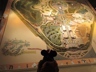Large 1958 Disneyland Map